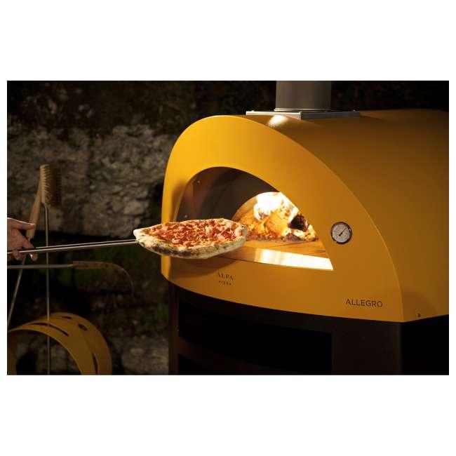 FXALLE-LGIA Alfa FXALLE-LGIA Allegro Outdoor Steel Italian Pizza Wood Oven with Base, Yellow 3