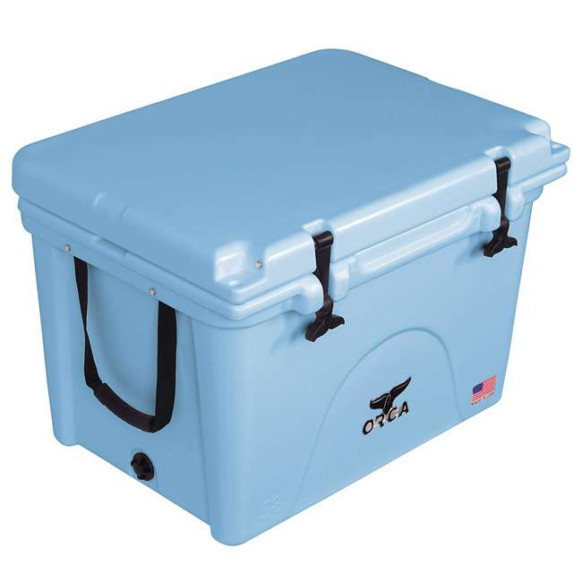 ORCLB058 Orca ORCLB058 58 Quart 72 Can Roto Molded Insulated Ice Chest Cooler, Light Blue 1