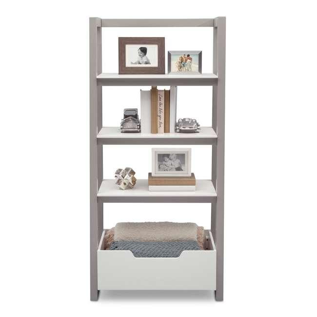 Delta Children Gateway Ladder Shelf Bianca With Gray