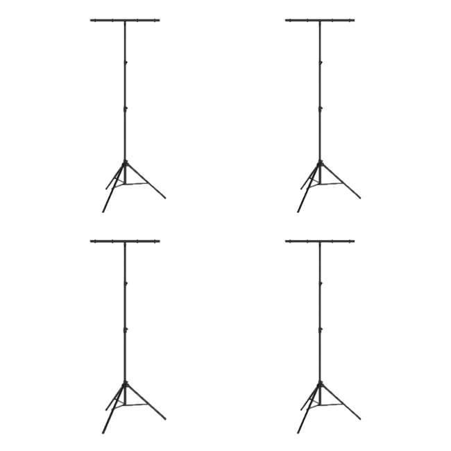 4 x CH-03 Chauvet DJ CH-03 Portable T-Bar Tripod Stand (4 Pack)