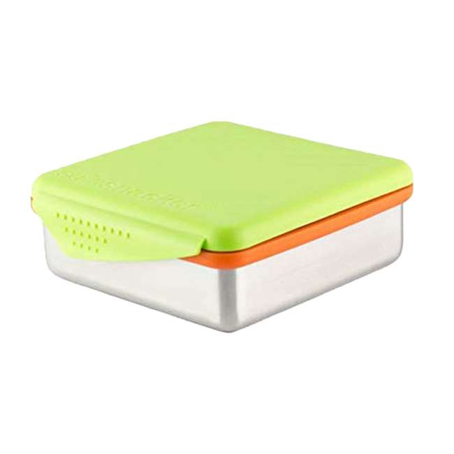 894148002817 Kid Basix Safe Snacker Kids 23 Ounce Stainless Steel Lunch Box, Lime (2 Pack) 3