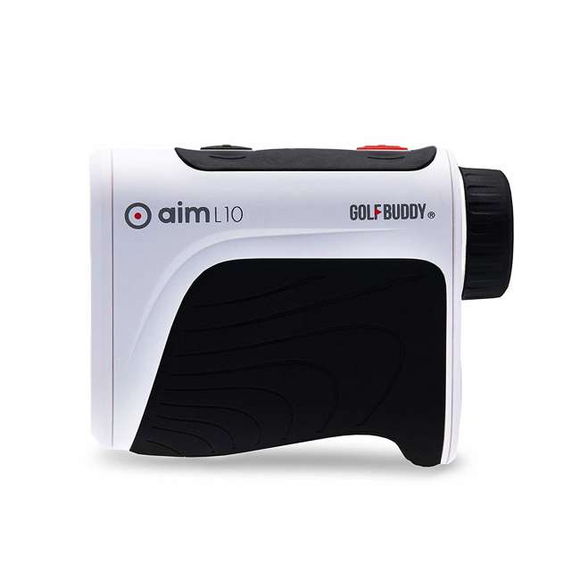 AIM-L10 + GB-BATTPACK-SILVER-2 GolfBuddy Aim L10 Golf Distance Laser Rangefinder + USB Charging Power Pack 3