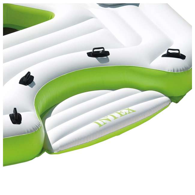 56291CA-U-B Intex Inflatable Key Largo Party Island w/ Built-In Coolers & Cupholders | Used 3