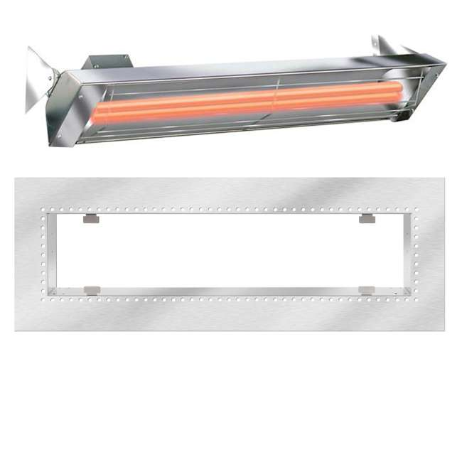 WD4024SS + 18 2300 Infratech WD Series 4000 Watt 240V Electric Infrared Patio Space Heater + Flush Mount Kit