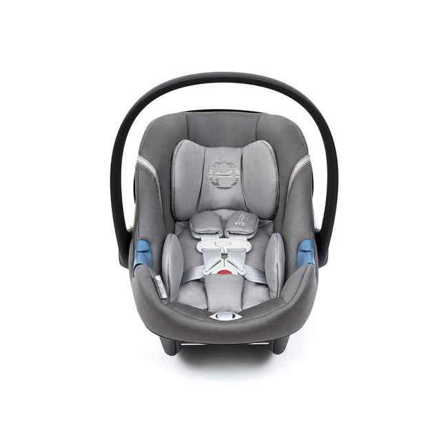 518002095 Cybex Aton M Newborn Infant Baby Car Seat with SafeLock Base, Manhattan Gray 1
