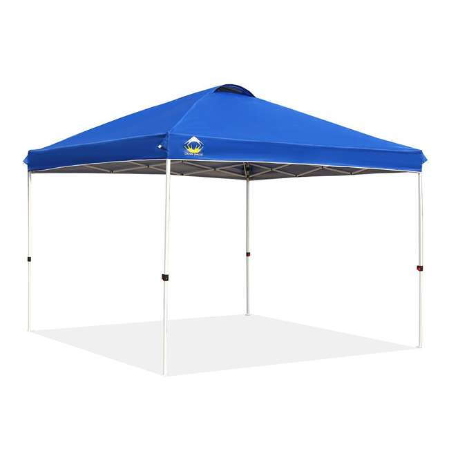 CS-C1010BU Crown Shades 10 x 10 Feet Slant Leg Rust Resistant Sun Protected Canopy, Blue
