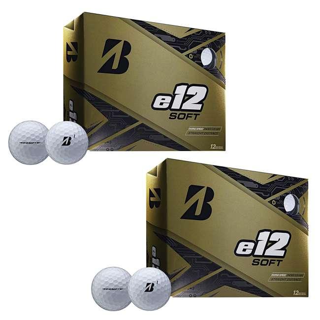 9CWX6D Bridgestone Golf Series e12 Soft 3-Piece Distance Golf Balls, White (2 Dozen)