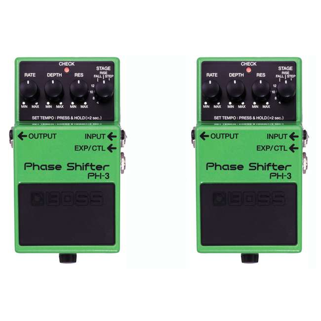PH-3 Boss PH-3 Phase Shifter Multi Effects Guitar Stompbox (2 Pack)