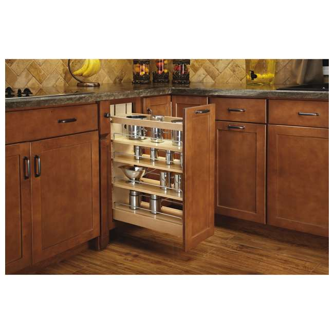 448-BCBBSC-8C Rev-A-Shelf 448-BCBBSC-8C 8 Inch Kitchen Pull Out Cabinet Organizer with Shelves 1