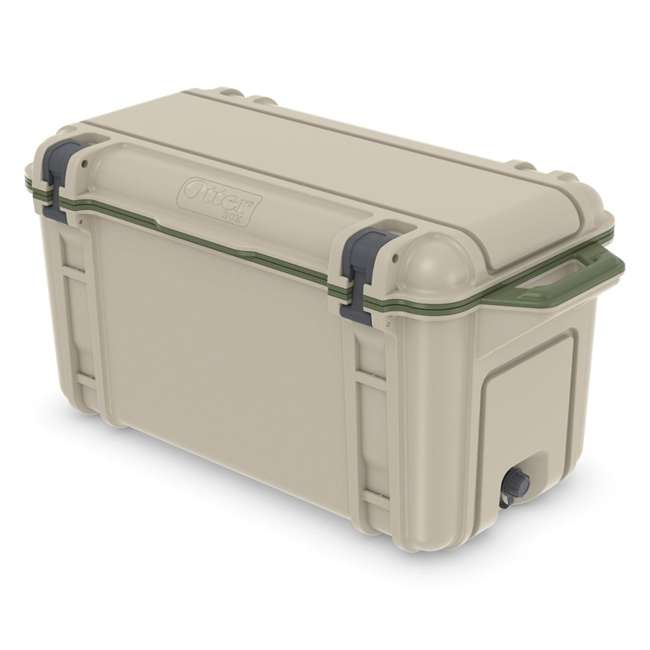 77-54869 OtterBox Venture Heavy Duty Outdoor Camping Fishing Cooler 65-Quarts, Tan/Green 2