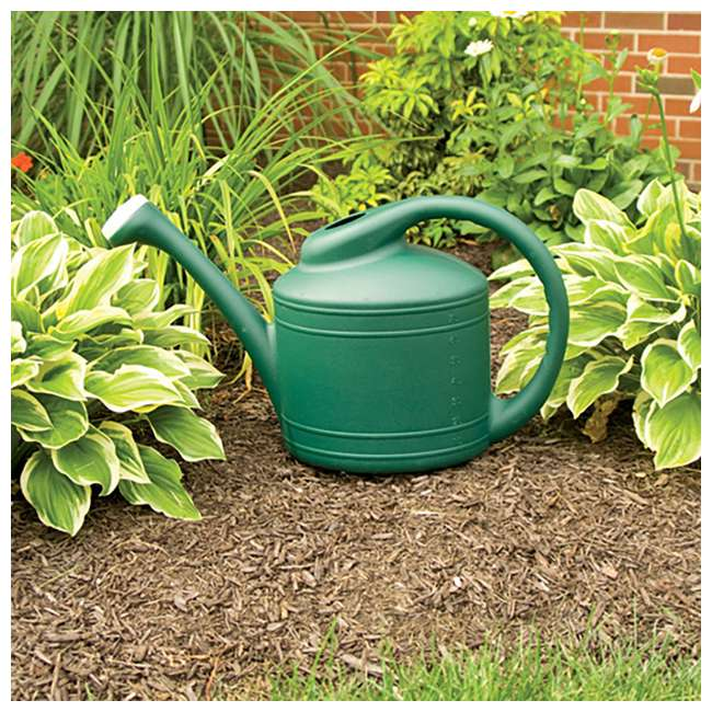 SPAT-WC8108FE Southern Patio Large 2 Gallon Plastic Rainfall Garden Plant Watering Can, Green 1