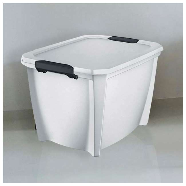 T20GLWT-U-A Life Story White Stackable Latching Storage Box Container, 20 Gal (Open Box) 4