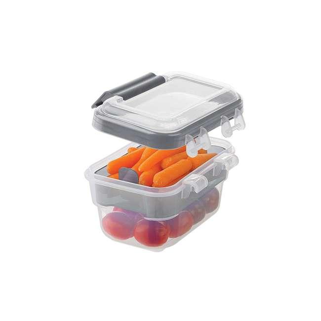 SNL-1000GY Progressive International SNL-1000GY Snaplock Snack To Go Plastic Container 3