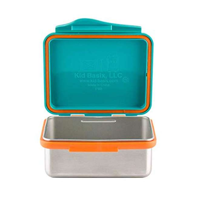 796515002867 + 796515002737 + 796515002836 Kid Basix Safe Snacker 23oz Stainless Steel Lunch Box + 7oz and 13oz Containers 8