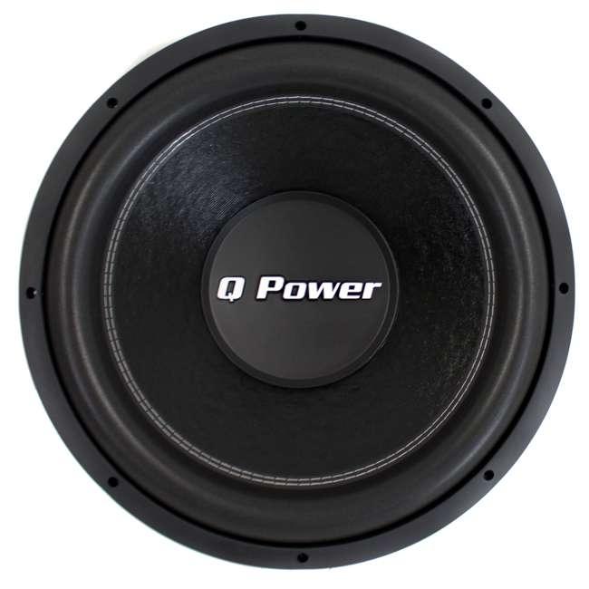 """QPF15 + QBASS15 2) Q-POWER QPF15 15"""" 2200W Deluxe DVC Subwoofers + Vented Enclosure 1"""