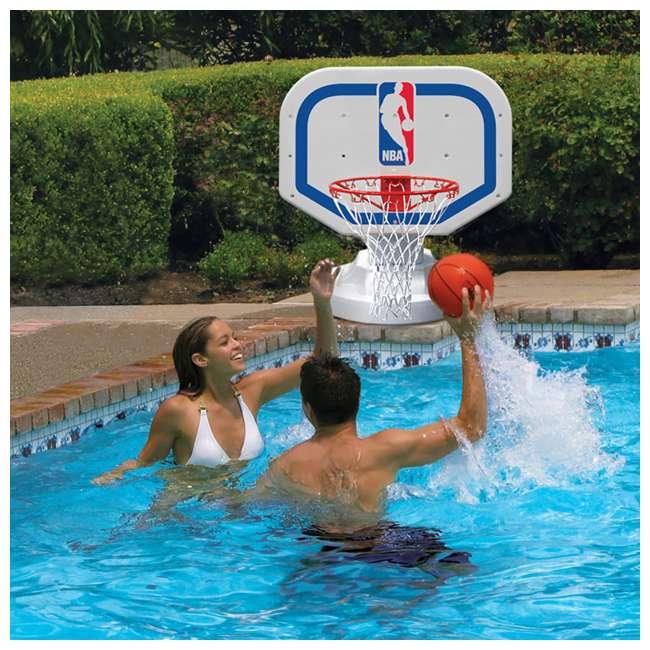 72900 Poolmaster Poolside NBA Basketball Hoop and Nylon Basketball 1