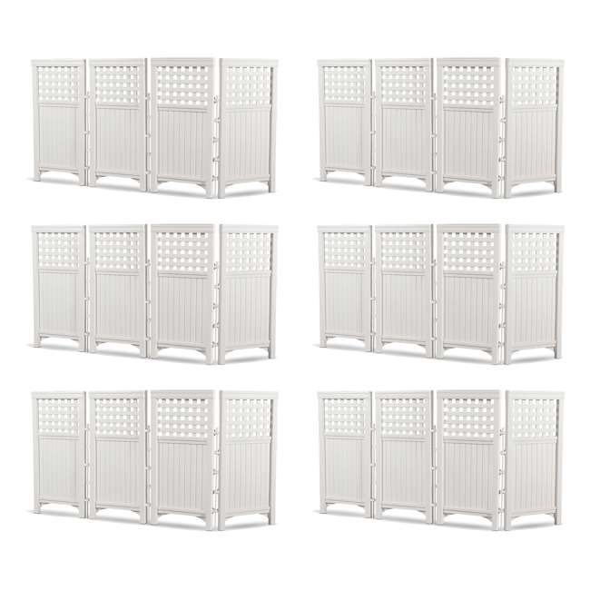 6 x FS4423D Suncast Outdoor Screen Enclosure 4-Panel Fence (6 Pack)