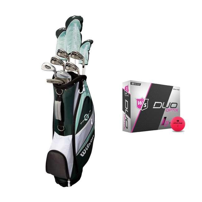 WGGC4380L + WGWP43500 Wilson Profile XLS Women's Left Hand Graphite Golf Club Set & Balls