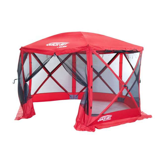 CLAM-ESS-14202 + 2 x CLAM-WP-ESS-14204 Clam Quick Set Tailgating Shelter + Wind & Sun Panels (6 pack) 1
