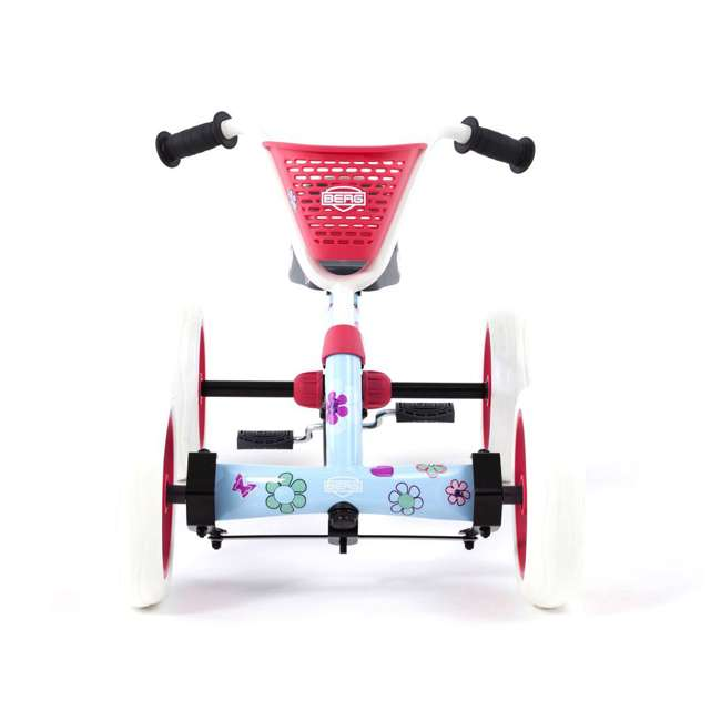 24.30.02.00 Berg Buzzy Bloom Toddler Adjustable Compact Pedal Powered Go Kart, Light Blue  1