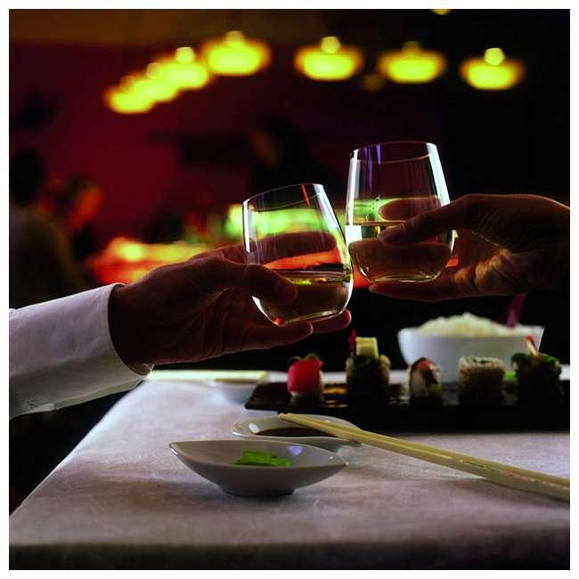 0414/07 Riedel VINUM O Wine Tumbler Nebbiolo Stemless Fine Crystal Glasses, Set of 2 3