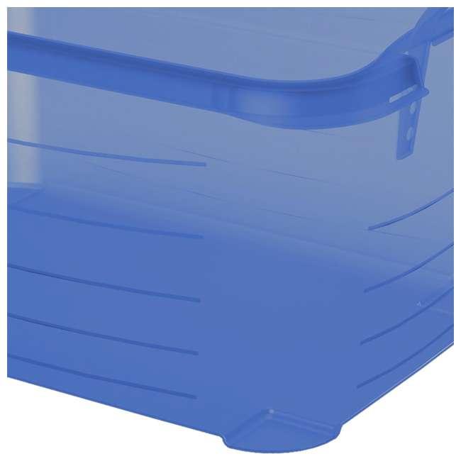 4 x CS-50TB Life Story Blue Closet Organization & Storage Box Container, 55 Quart (4 Pack) 2