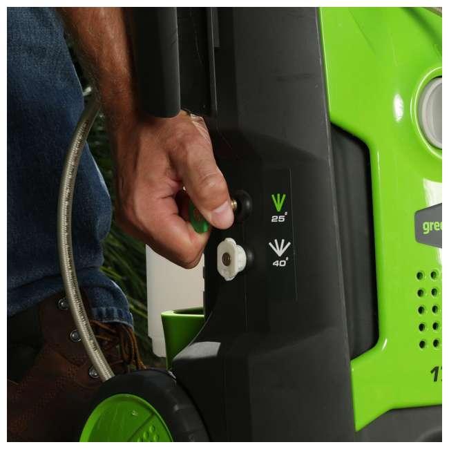 GW-5100402-U-A GreenWorks 1700 PSI 1.2 GPM 13 Amp Power Pressure Washer w/ Hose Reel (Open Box) 4
