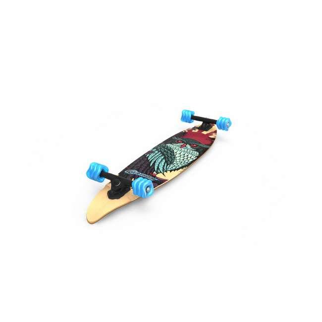 "T8-3022 + 08057-SHARK Triple 8 Dual Certified Skate & Bike Helmet S/M, Blue + Fathom Shark Wheel Pintail 39"" Longboard 10"