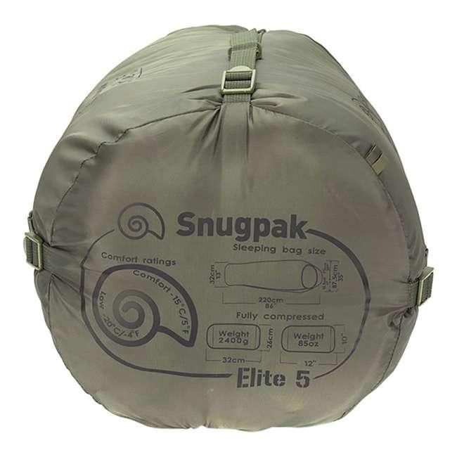 6 x SNUG92840 Snugpak Softie Elite 5 Warm Outdoor Camping Sleeping Bag, Olive (6 Pack) 2