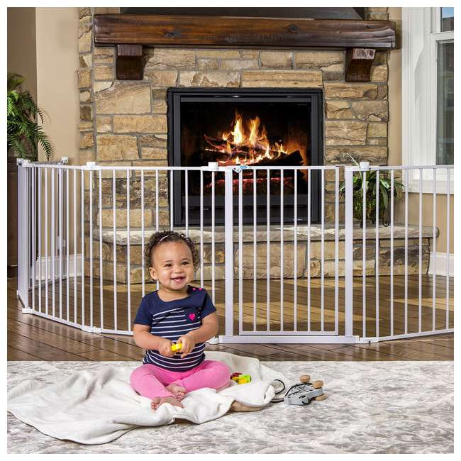 REG-1350DS Regalo 192 Inch Super Wide 4 In 1 Adjustable Baby Gate and Play Yard, White 4