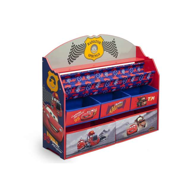 TB84993CR-1010 Delta Children Disney/Pixar Cars 3 Deluxe Book and Toy Organizer 2