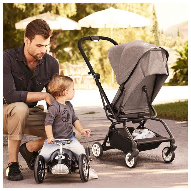 518001259  Cybex Eezy S Twist Travel System Baby and Toddler Stroller w/ Sun Canopy, Black 6