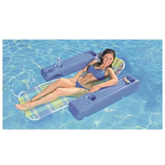 70733 Poolmaster Caribbean Plaid Swimming Pool Lounge Float