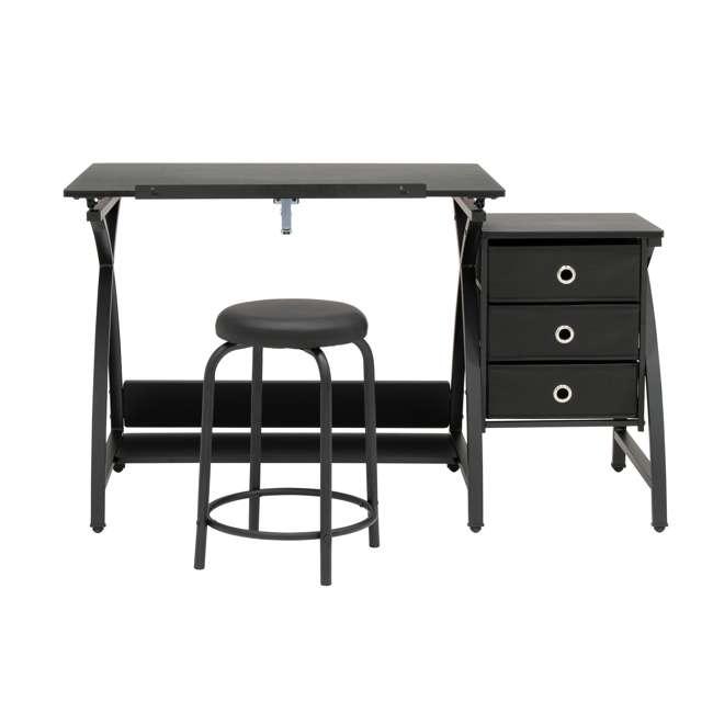 STDN-38015 Studio Designs Venus 2-Piece Craft Adjustable Tabletop w/ Storage & Stool, Black 1