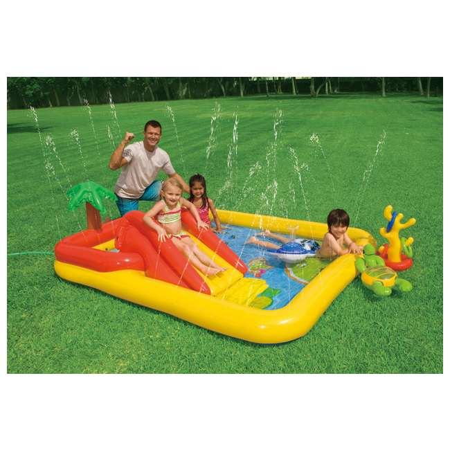 57454EP-U-B Intex Ocean Play Center Kids Inflatable Wading Pool - Used 2