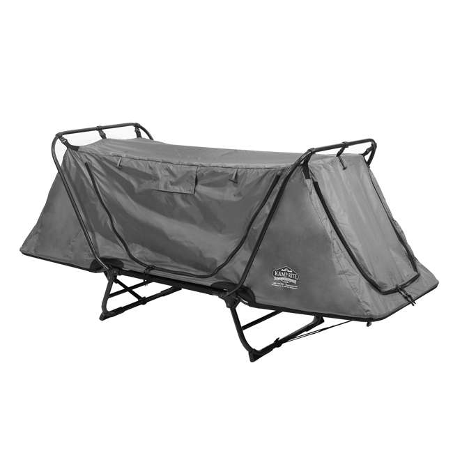 TC247 + KAMPGSB101 Kamp-Rite Original Tent Cot Folding Camping and Hiking Bed for 1 Person + Valuables Storage Bag  1