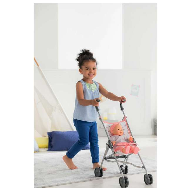 FPK23 + FRV17 Corolle Mon Grand Poupon Drink & Wet Potty Training Emma Doll and Toy Stroller 11