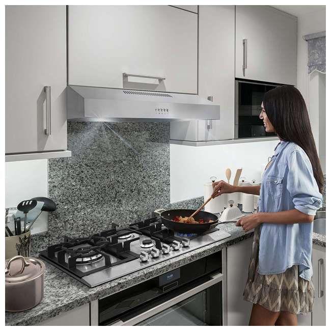 COS-5U30 Cosmo COS-5U30 30 Inch Under Cabinet Range Hood w/ Push Control, Stainless Steel 4