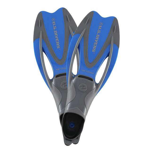 FA218O4015L U.S. Divers Proflex II Enclosed Heel Soft Foot Pocket Swimming and Diving Fins