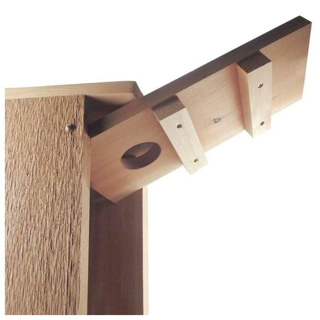 WL-24338 Woodlink Wooden Screech Owl Kestrel Bird House Nesting Box with Wood Shavings 4