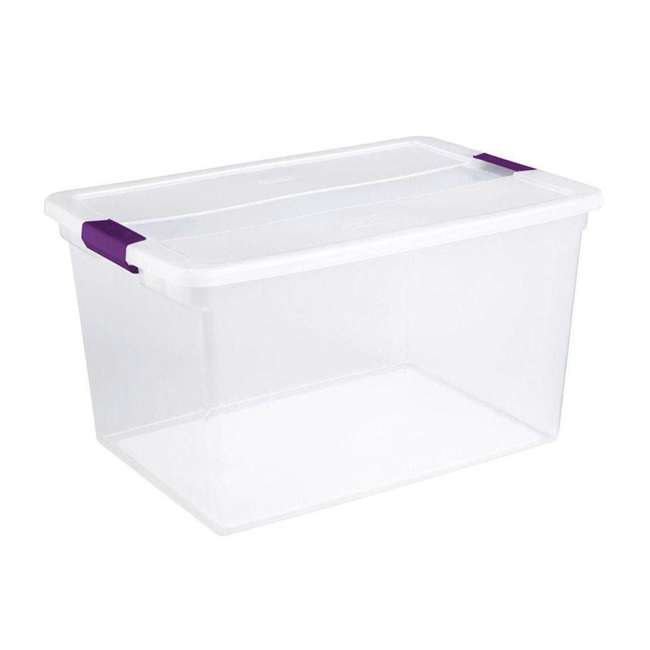 12 x 17571706-U-A Sterilite 66-Quart ClearView Latch Box Storage Container (Open Box) (12 Pack)