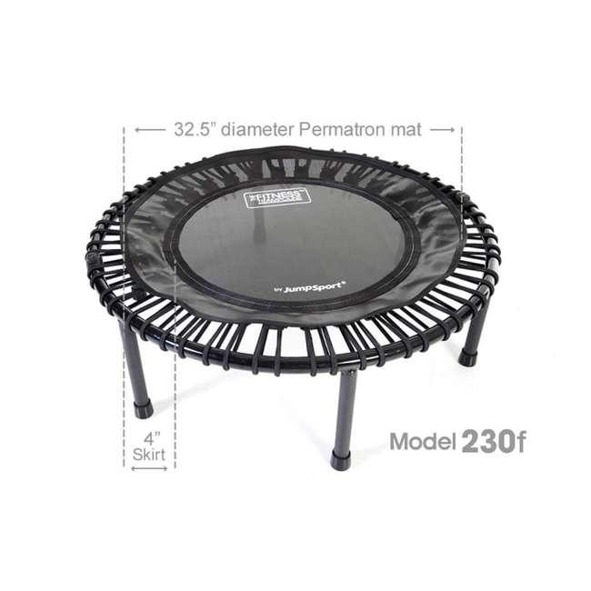 RBJ-S-20853-01 JumpSport 230f In Home Folding Fitness Rebounder Mini Trampoline and DVD, Black 2