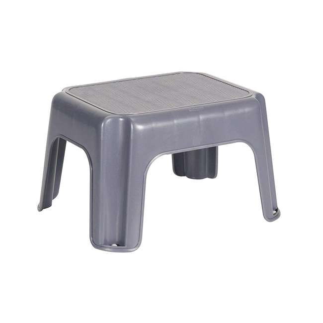 4 x FG275300CYLND Rubbermaid Durable Plastic Step Stool w/ 250-LB Weight Capacity, Gray (4 Pack) 1