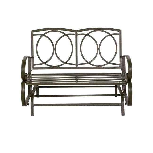 CM0002-U-B Cloud Mountain Furniture Porch Patio Loveseat Glider Sofa Couch Swing (Used) 1