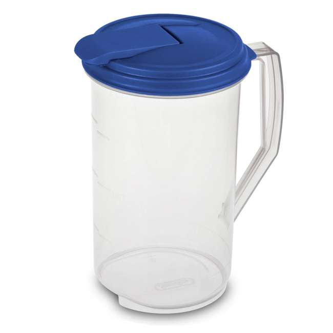 18 x 04860906-U-A Sterilite 2 Quart Round Plastic Hinged Pitcher (Open Box) (18 Pack)