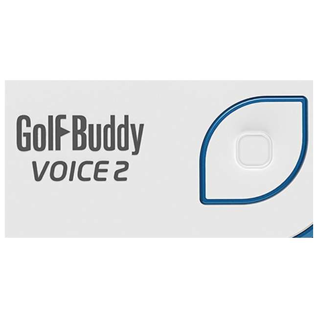 VOICE2-WHTBLUE + PGSMGps Golf Buddy Voice2 Talking GPS, White/BlueGolfwith Smart Marker Bluetooth Connected Golf Shot Tracker 1