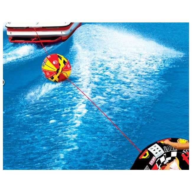 53-1329 + 53-2030 Sportsstuff 1-4 Person Boat Lake Tube | Airhead Sportsstuff Boat Tubing Booster Ball Towing System 7