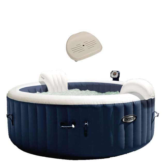 28405E + 28502E Intex 28405E 4 Person Round Hot & Slip Resistant Removable Hot Tub Seat