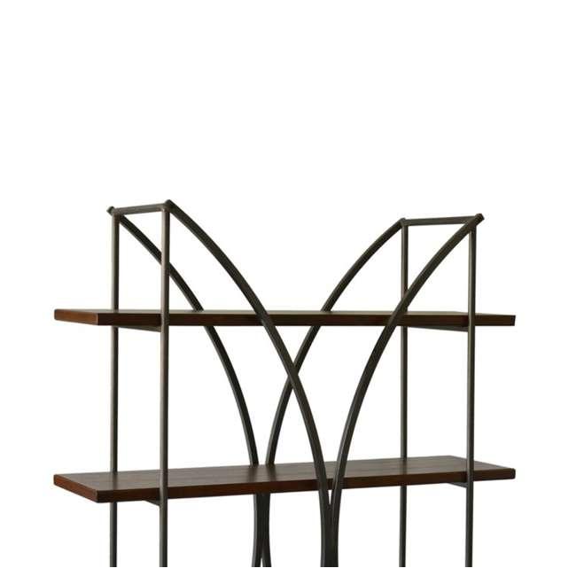 SC-SF24839 Abode 84 Elliptical Warehouse 4 Shelf Bookcase with Wood Shelves 4