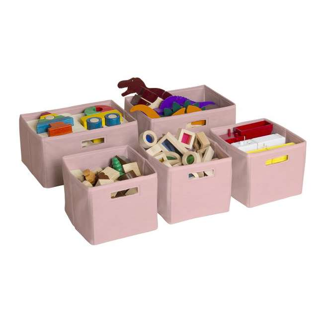 G85709 Guidecraft Pink Storage Bins (Set of 5) 1